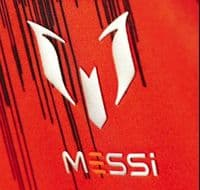 adidas Messi all over print Junior Tee T Shirt Solar Red with free 1st Class del